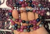 CGB2516 7.5 inches 7.5mm - 7.8mm round ruby sapphire beaded bracelets