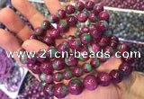 CGB2527 7.5 inches 9mm round ruby zoisite beaded bracelets