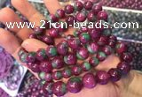 CGB2528 7.5 inches 10mm round ruby zoisite beaded bracelets