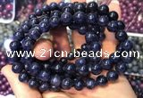CGB2533 7.5 inches 7mm round sapphire gemstone beaded bracelets
