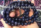 CGB2534 7.5 inches 8mm round sapphire gemstone beaded bracelets