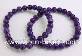 CGB2550 7.5 inches 6mm round charoite gemstone beaded bracelets