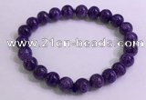CGB2561 7.5 inches 8mm round charoite gemstone beaded bracelets