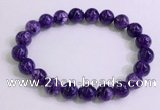 CGB2571 7.5 inches 9mm round charoite gemstone beaded bracelets