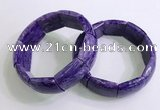 CGB2582 7.5 inches 20*25mm charoite gemstone bracelet