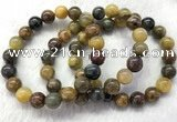 CGB2601 7.5 inches 10mm round natural pietersit beaded bracelets
