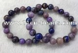 CGB2607 7.5 inches 11mm round natural sugilite beaded bracelets