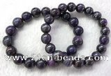 CGB2613 7.5 inches 11mm round natural sugilite beaded bracelets