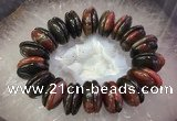 CGB3018 7.5 inches 6*22mm rondelle agate bracelet wholesale