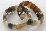 CGB3121 7.5 inches 10*20mm faceted oval agate bracelets