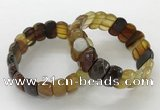 CGB3122 7.5 inches 10*20mm faceted oval agate bracelets