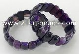 CGB3124 7.5 inches 10*20mm faceted oval agate bracelets