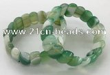 CGB3129 7.5 inches 10*20mm faceted oval agate bracelets