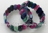 CGB3133 7.5 inches 10*20mm faceted oval agate bracelets