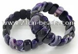CGB3141 7.5 inches 11*23mm faceted oval agate bracelets