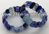 CGB3145 7.5 inches 11*23mm faceted oval agate bracelets