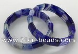 CGB3170 7.5 inches 12*15mm rectangle agate bracelets wholesale