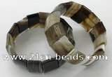 CGB3187 7.5 inches 15*25mm rectangle agate bracelets wholesale