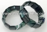 CGB3191 7.5 inches 15*25mm rectangle agate bracelets wholesale