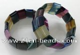 CGB3193 7.5 inches 15*25mm rectangle agate bracelets wholesale