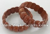 CGB3232 7.5 inches 12*20mm oval red jasper bracelets