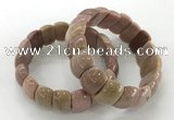 CGB3233 7.5 inches 12*20mm oval rhodochrosite bracelets