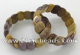 CGB3234 7.5 inches 12*20mm oval mookaite gemstone bracelets