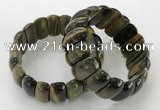 CGB3252 7.5 inches 12*25mm oval blue tiger eye bracelets