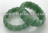 CGB3257 7.5 inches 12*25mm oval green aventurine bracelets