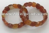 CGB3268 7.5 inches 10*15mm faceted marquise red agate bracelets
