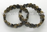 CGB3285 7.5 inches 10*15mm faceted oval yellow tiger eye bracelets