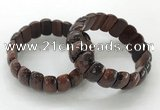 CGB3304 7.5 inches 10*20mm faceted oval red tiger eye bracelets