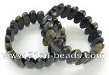 CGB3321 7.5 inches 10*20mm faceted oval blue tiger eye bracelets