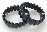 CGB3324 7.5 inches 10*20mm faceted oval blue goldstone bracelets