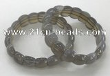 CGB3333 7.5 inches 10*15mm rectangle grey agate bracelets