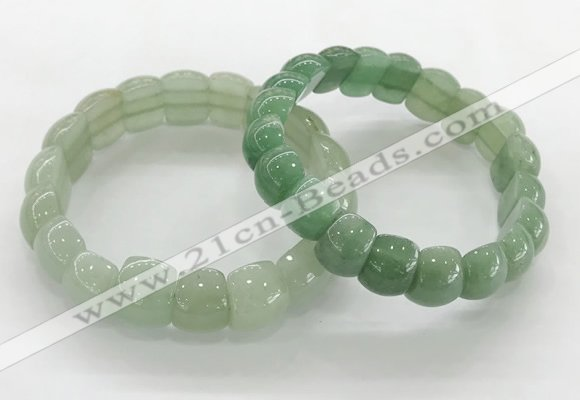 CGB3370 7.5 inches 10*15mm oval green aventurine bracelets