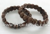 CGB3385 7.5 inches 10*15mm oval mahogany obsidian bracelets