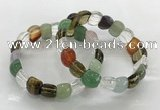 CGB3387 7.5 inches 10*15mm oval mixed gemstone bracelets