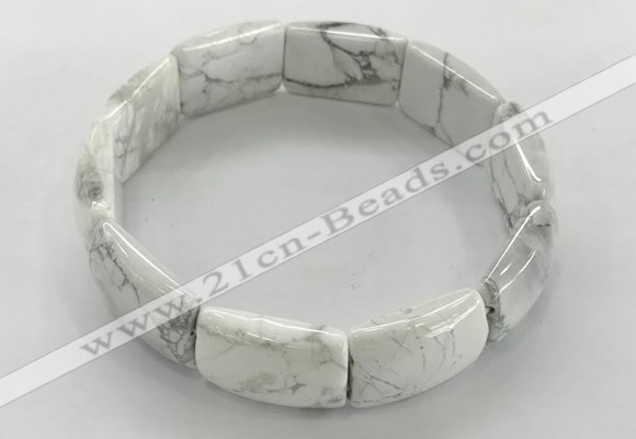 CGB3406 7.5 inches 15*21mm white howlite gemstone bracelets