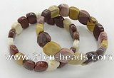 CGB3452 7.5 inches 10*15mm faceted marquise mookaite bracelets