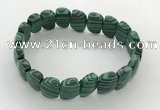 CGB3454 7.5 inches 10*15mm faceted marquise imitation malachite bracelets