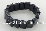 CGB3471 7.5 inches 12*17mm trapezoid blue goldstone bracelets