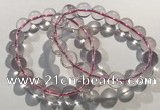 CGB4002 7.5 inches 12mm round rose quartz beaded bracelets