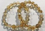 CGB4024 7.5 inches 9mm round citrine beaded bracelets wholesale