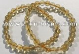 CGB4028 7.5 inches 7mm round citrine beaded bracelets wholesale