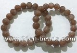 CGB4061 7.5 inches 10mm round sunstone beaded bracelets