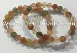 CGB4071 7.5 inches 8mm round mixed rutilated quartz beaded bracelets