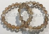 CGB4078 7.5 inches 9mm round golden rutilated quartz beaded bracelets