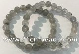 CGB4102 7.5 inches 8mm round rutilated quartz beaded bracelets