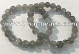 CGB4103 7.5 inches 9mm round rutilated quartz beaded bracelets
